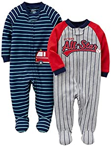Pack of 2 Carters Baby Boys Cotton Sleep /& Play