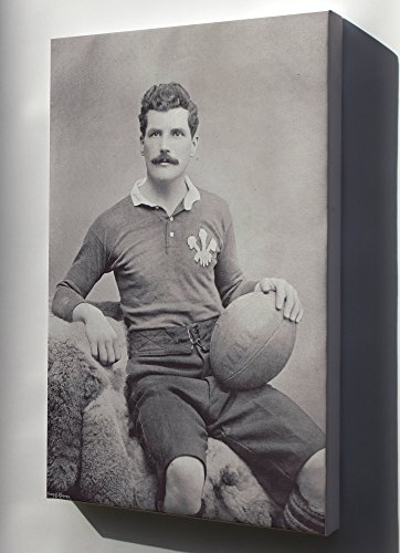 Canvas 16x24; Arthur 'Monkey' Gould, Wales Captain And Newport Rfc Rugby Union Player ()