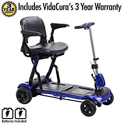 Drive Medical Zoome Flex Folding Travel Scooter Including 3 Year Extended Warranty