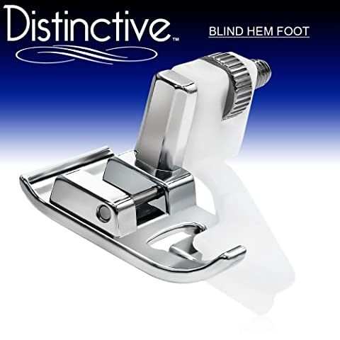 Distinctive Blind Hem Sewing Machine Presser Foot - Fits All Low Shank Snap-On Singer*, Brother, Babylock, Euro-Pro, Janome, Kenmore, White, Juki, New Home, Simplicity, Elna and - Euro Pro Sewing