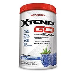 Scivation, Xtend GO Energy + BCAAs, Blue Raspberry, 30 Servings, Net Wt. 15.1