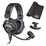Audio Technica BPHS1 Broadcast Stereo Headset -INCLUDES- Antlion Audio Pro Gaming Mousepad and Blucoil Headphone Hook - GAMING BUNDLE