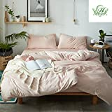 queen quilt solid pink - Luxury Duvet Cover Set Queen Size Solid Pink Luxury Thickened Velvet Duvet Cover with 2 Pillow Shams - Hotel Quality Flannel Winter Warmth Luxurious Bedding Sets by LifeTB