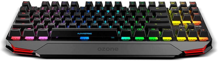 Teclado Gaming Ozone Alpha Strike - Teclado Mecanico - Switches Outemu Red, Iluminacion LED RGB, Silencioso, Numerico, Layout Español