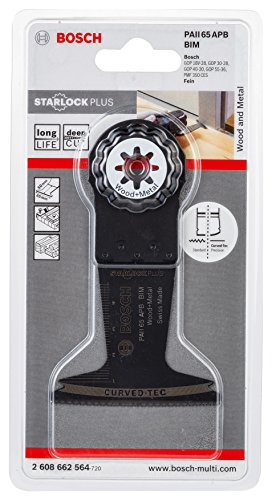 Bosch Starlock Oscillating Multi Tool 2608662564 Plunge Cut Saw Blade ''Paii 65 Apb'' of Bi-Metal by Bosch (Image #2)