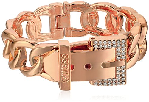 - Guess Frozen Chain Link Buckle Hinge Bangle Bracelet