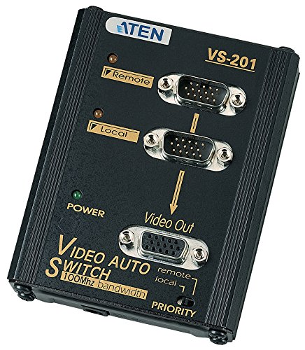 VS201 - Aten 2 to 1 Video Switch 2 x D-Sub (HD-15) Computer, 1 x D-Sub (HD-15) Monitor - 1024 x 768 @ 85 Hz - SVGA by ATEN