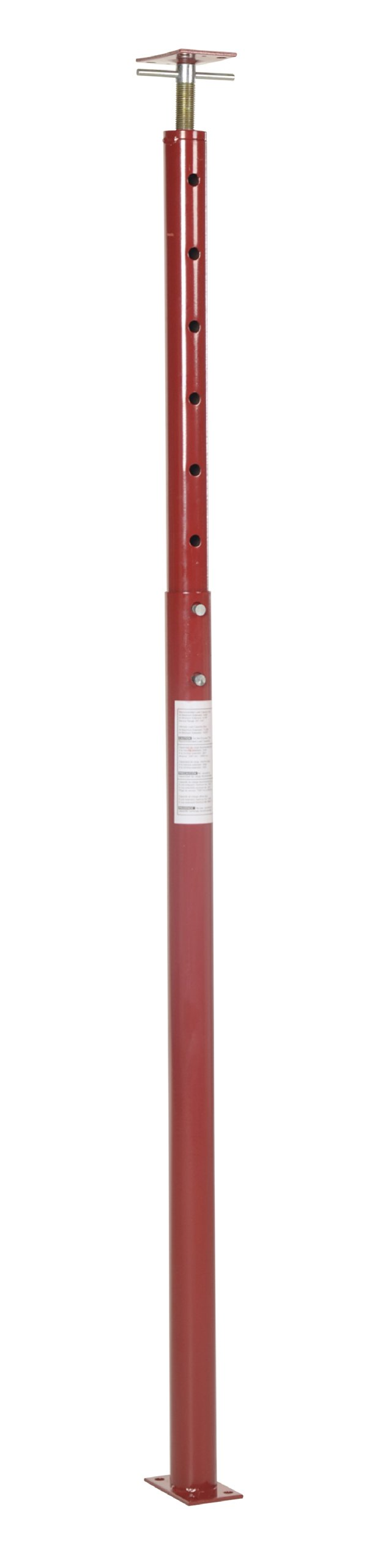 Vestil FJB-100 Basement Floor Jack, 54'' - 100'' Height Range, Maximum Height Capacity (lbs.) 5600, Minimum Height Capacity (lbs.) 8438