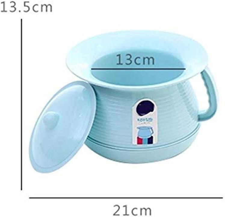 Byrhgood T/öpfchen Baby T/öpfchen Potty//Urinalbecken//Indoor Topf Eimer M/änner und Frauen Potty Urinal Schlafzimmer Urinal mit Deckel Entwurf Color : Blue Kinder Emaille Innen Kunststoff