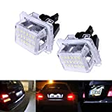 Ricoy Canbus LED Number License Plate Light For Mercedes Benz W204(5D) W221 W212 C216 C207 C E S CL Class White(Pack of 2)