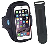 Sport Armband for iPhone 7, 6, 6s with Slim Case; for Galaxy S5/S6/S7 with No Case & for iPhone SE with LifeProof [EX3 Armband Extender for Large Arms Included]