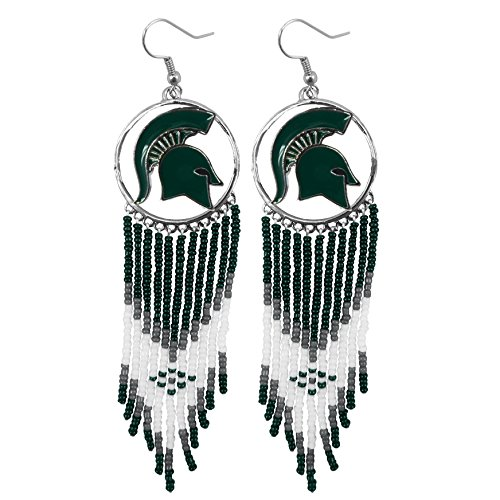 Michigan State Spartans Earrings - Littlearth NCAA Dreamcatcher Earrings (Michigan State Spartans)