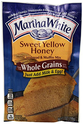 Martha White Sweet Yellow Honey Made with Whole Grains Cornbread and Muffin Mix, 7-Ounce (Pack of 12) -