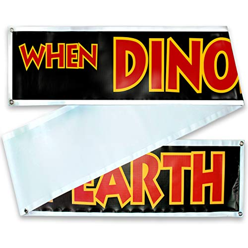 "Sign Replica Prop - Jurassic Park/World Movie Fan Props -Toys - Games - Shirts. 3 Sizes: 10 Ft, 20 Ft or 30 Ft :""When Dinosaurs Ruled The Earth"" ()"
