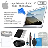 Apple 13.3' MacBook Air, 128GB Mobile Bundle (New 2017 Version MQD32LL/A) - Case + Wireless Mouse + Premium Cleaning Solution - Black