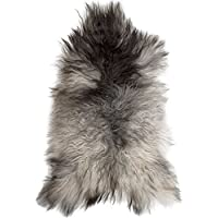 Lambland Long Wool Icelandic Sheepskins in Natural Grey Colours - Size Single Pelt
