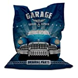 Branded Bean Bag with Printed Garage (3' x 4.4')