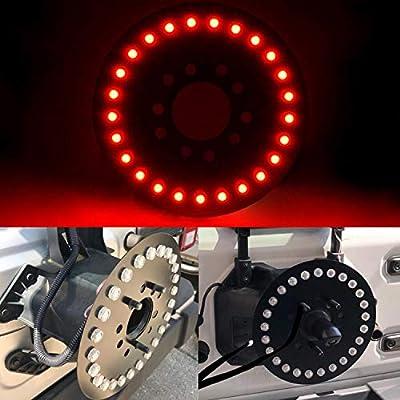 omotor for Jeep Spare Tire Brake Light fits 2007-2020 Jeep Wrangler JK JL Unlimited Rubicon Sahara Sport 2 Door or 4 Door: Automotive