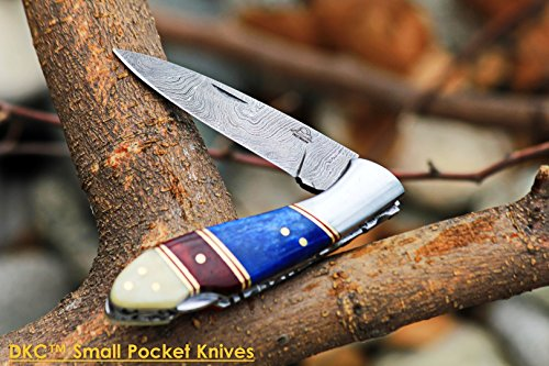 DKC-58-LJ-LITTLE-JAY-Damascus-Folding-Pocket-Knife-Bone-Handle-4-Folded-7-Long-47oz-oz-High-Class-Looks-Incredible-Feels-Great-In-Your-Hand-And-Pocket-Hand-Made-DKC-Knives-LJ-Series