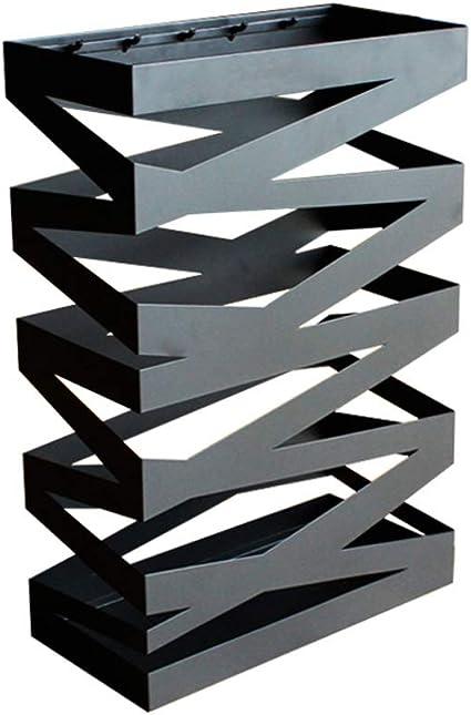 Vassoio antigoccia Portaombrelli autoportante Ferro salvaspazio Rimovibile Decorazione Resistente Ufficio Nero 40x30 cm Portaombrelli Moderno in Metallo 16x12 Pollici