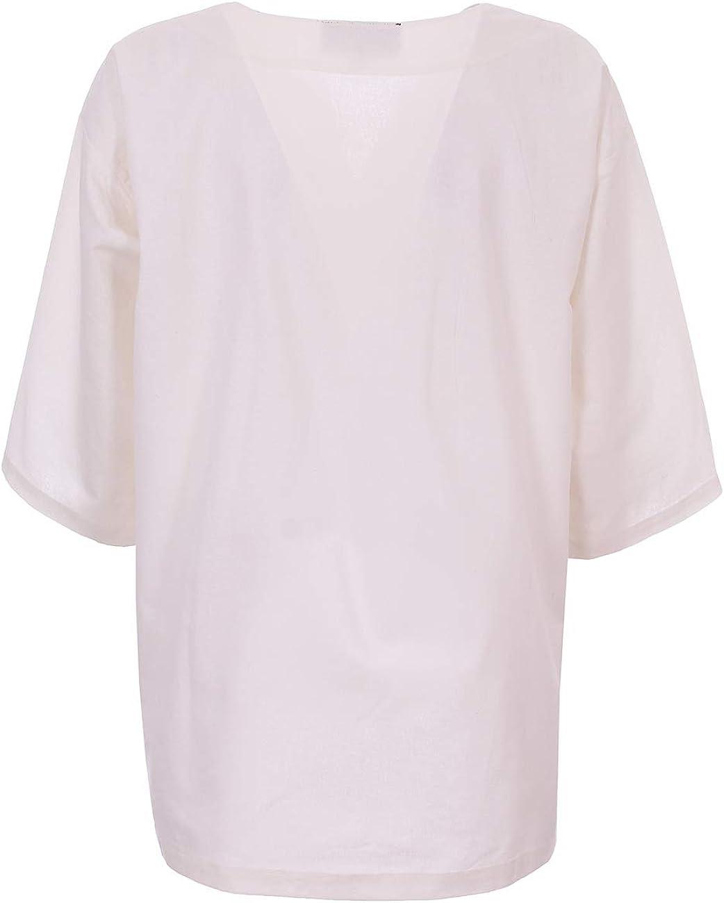 JapanAttitude Camisa Blanca de Algodón Antigua Imperial GN ...