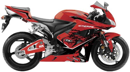 Factory Effex 15-15324-A EV-X Series Red Complete Street Bike Graphic Kit for Honda CBR1000RR ()