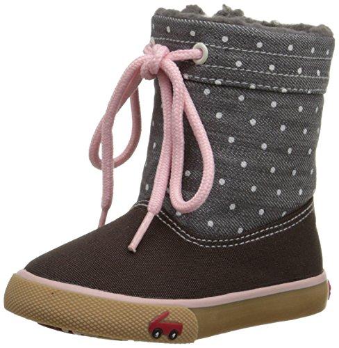 See Kai Run Greta Sneaker Boot , Gray, 4 M US Toddler