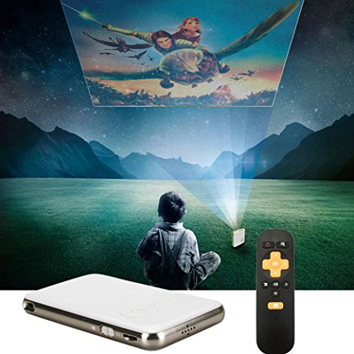 Mini Projector, Ikevan Android Projector Ultra-Thin Home Theater Mini Portable Wifi Smart DLP Projector (Grey) by Ikevan (Image #8)