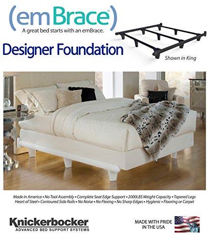 Amazon.com: Knickerbocker Embrace Bed Frame in Black - King Size ...
