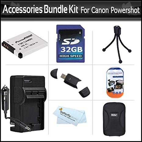 24dbfe1e1149 Amazon.com : 32GB Accessories Bundle Kit For Canon PowerShot A3300 ...