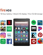 """Certified Refurbished Fire HD 8 Tablet (8"""" HD Display, 32 GB) - Black (Previous Generation - 8th)"""