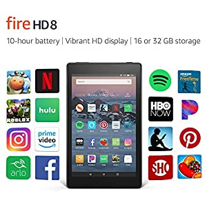 Fire HD 8 Tablet (8″ HD Display, 16 GB) – Black (Previous Generation – 8th)