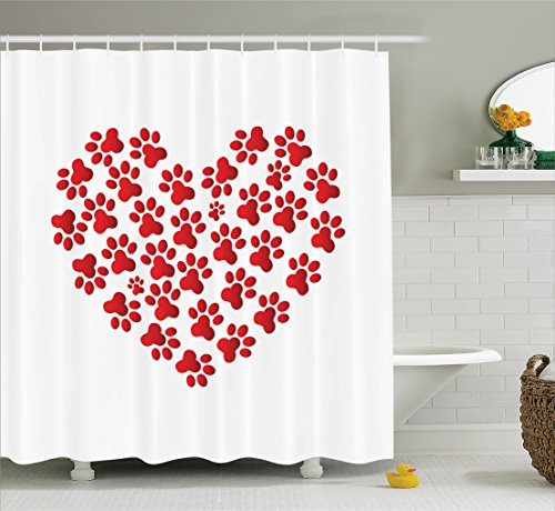 Ambesonne Collection Romantic Polyester Bathroom