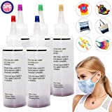 Tie Dye DIY Kit, 5 Vibrant Colours Fabric Textile Paints, Permanent One-Step Tie Dye Art Set for Kids, Adults, Fashion DIY(Includes 5 Dye Bottles) (Color: 5-colors)