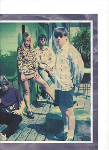 Magazine Photo With Sonic Youth On Patio