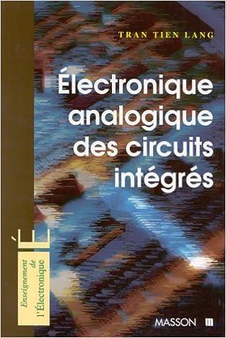 Livre gratuits Électronique analogique des circuits intégrés pdf, epub ebook