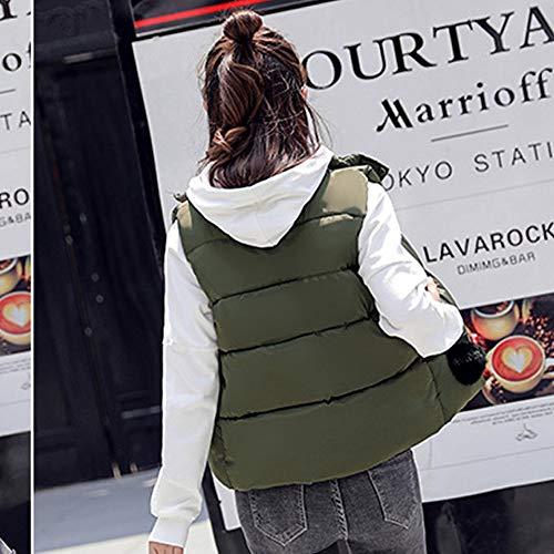 Mujeres Sin Bozevon Chaqueta Outwear Estilo Mangas De Color Algodón Abajo 05 Calentamiento Sólido RIqanYRxr