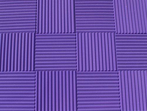 Soundproofing Acoustic Studio Foam - Purple Color - Wedge Style Panels 12x12x1 Tiles - 6 Pack