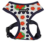 Puppia Authentic Blossom Harness A, Large, Navy