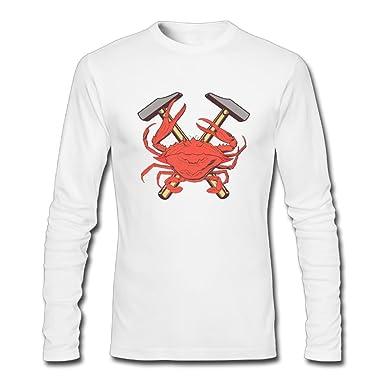 Custom Designed Clothing | Amazon Com I D Hit That Crab Custom Designer R Nmens O Neck Long