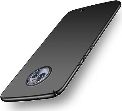 ORNARTO Funda Moto X4, Moto X4 Carcasa [Ultra-Delgado] [Ligera] Mate Anti-arañazos y Antideslizante Protectora Sedoso Caso para Motorola X4 (2017) 5.2Negro: Amazon.es: Electrónica