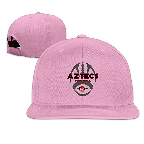 [ElishaJ Flat Bill San Diego State University Baseball Hats Caps Pink] (Bay Watch Costumes)