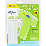 AdTech Hi-Temp Mini Hot Glue Gun COMBO PACK | High Temp Compact Tool for Crafting, School Projects and DIY, Ready-for-Use with 10 Glue Sticks | Quick Warm-Up Time | Item #05660