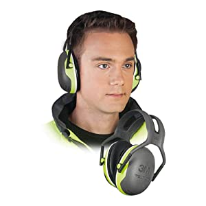 "3M X4A Peltor Black and Chartreuse Model X4A/37273(AAD) Over-The-Head Hearing Conservation Earmuffs, English, 15.34 fl. oz, Plastic, 1"" x 1"" x 1"""