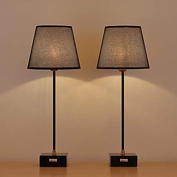 Haitral Marble Table Lamps Set Modern Elegant Bedside Lamps Set Of