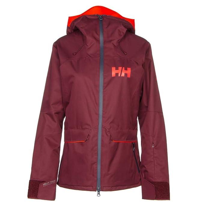 Helly Hansen W Powderqueen, Chaqueta Deportiva para Mujer, Rojo (Granate), X