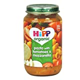 HiPP Organic - Baby Food 10+ Months - Pasta with Tomatoes & Mozzarella - 220g (Case of 6)