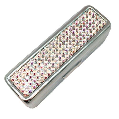 Swarovski Crystal Lipstick Case with Mirror by Pree (Crystal ()