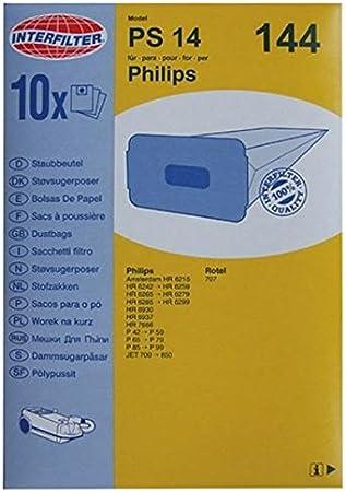 Philips - Lote de 10 bolsas de papel para aspirador Philips P94 ...