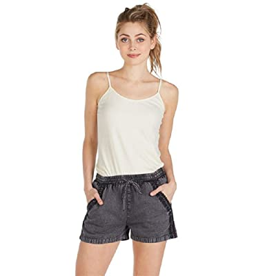 Mud Pie Women's Sloane Shorts Faded Black at Women's Clothing store